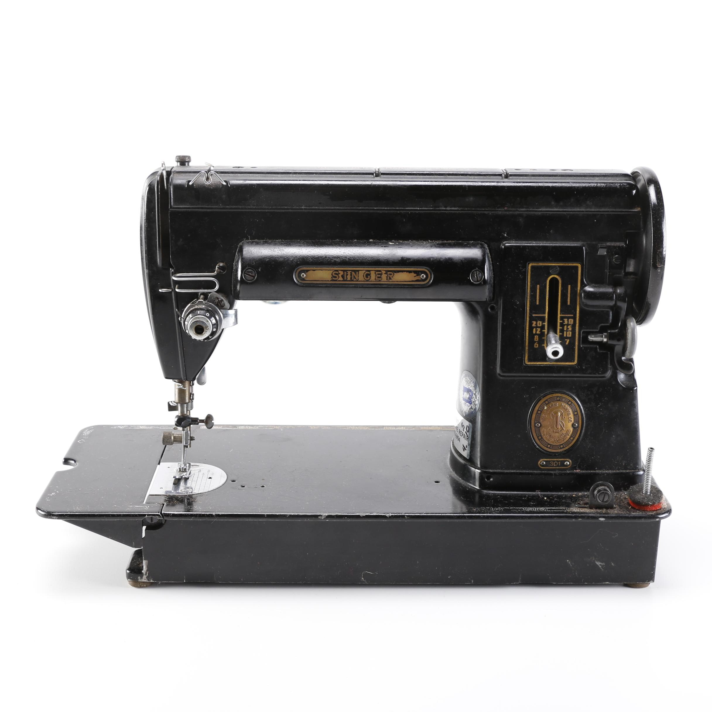 Singer 301 Sewing Machine and Accessory Case
