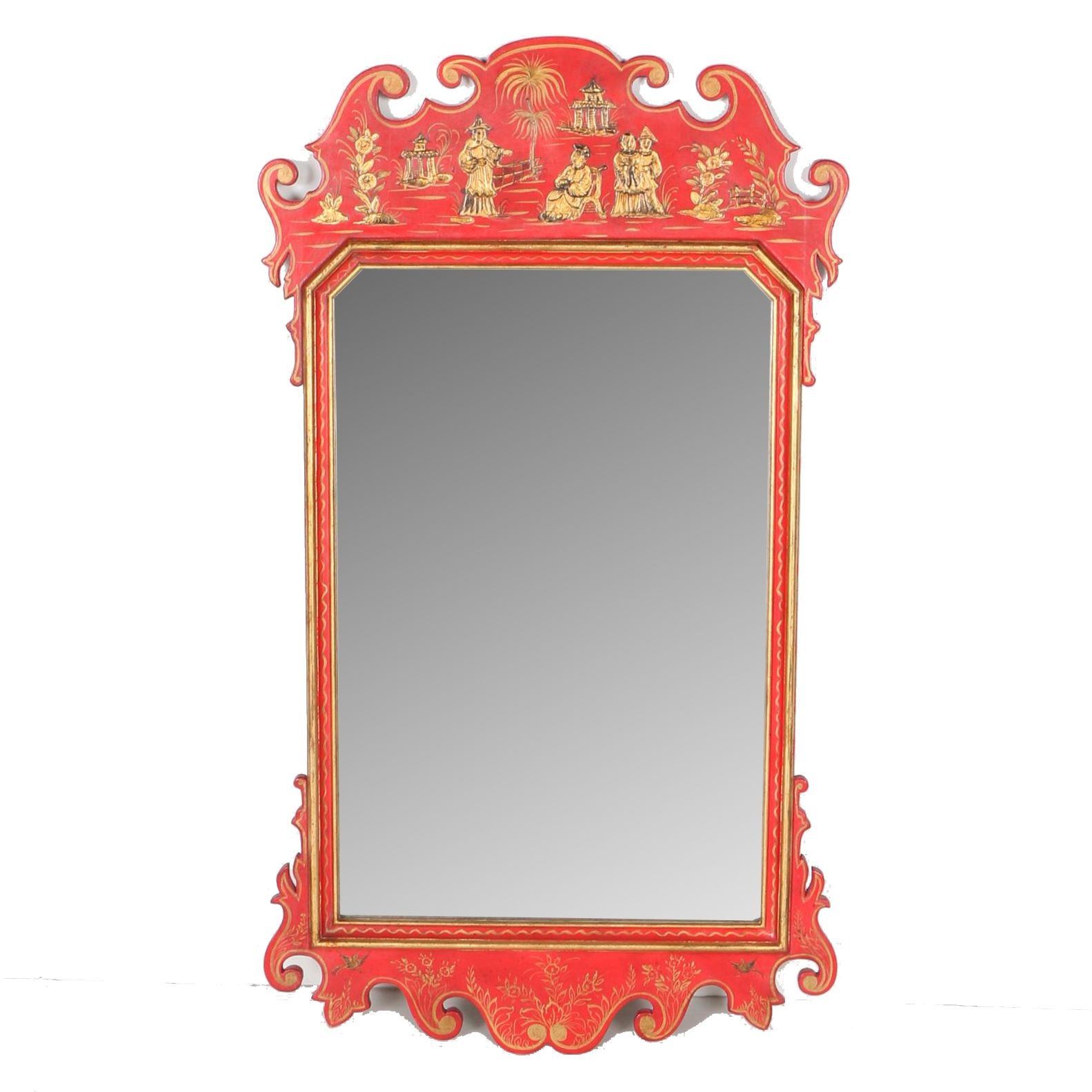 Hand-Painted Chinese Inspired Mirror