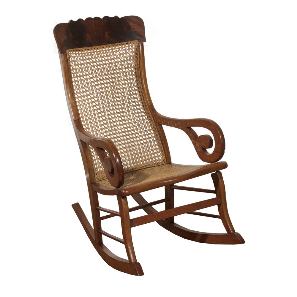 Caned Back Rocking Chair