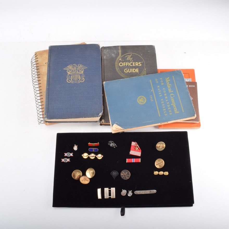 World War II Military Medals, Awards, Buttons, and Books