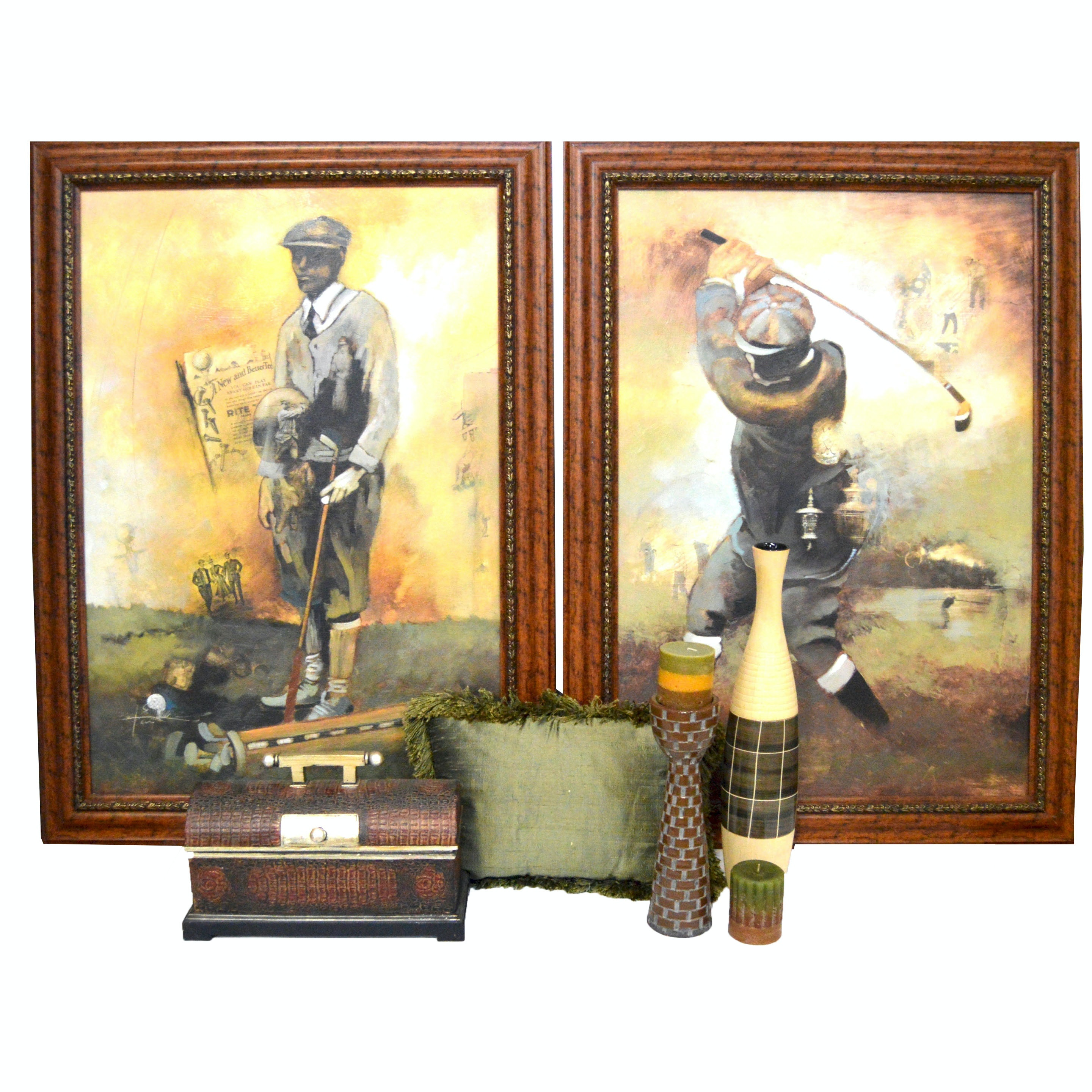 Golf Theme Artwork and Complementary Home Decor