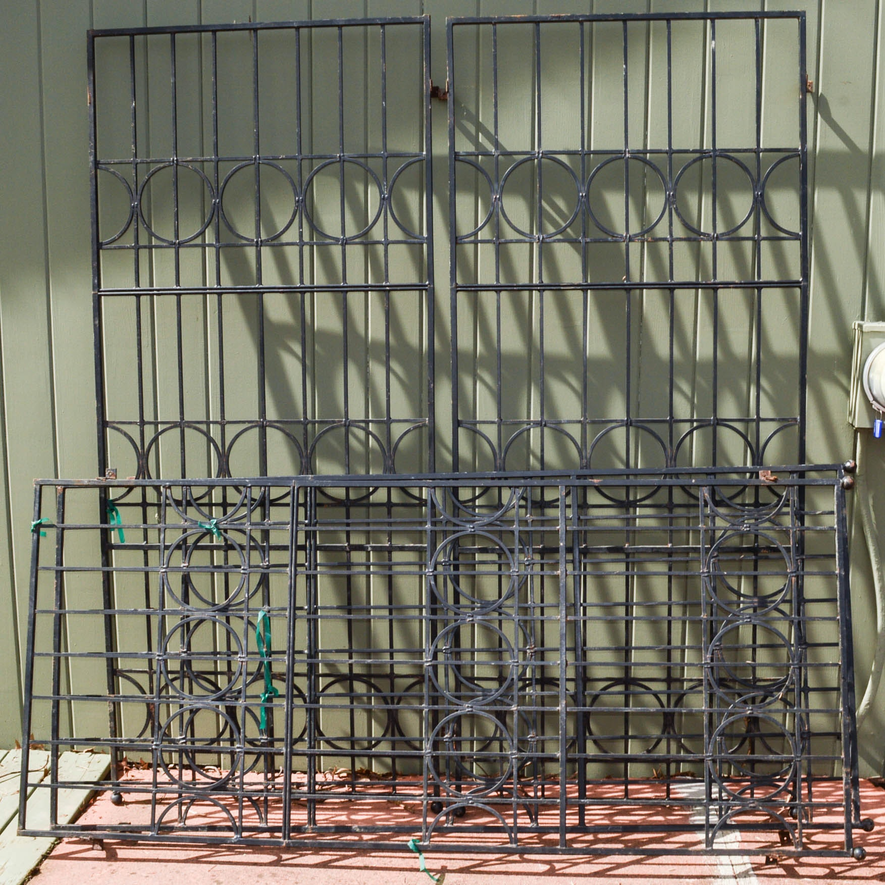 Four Wrought Iron Architectural Panels for Trellises