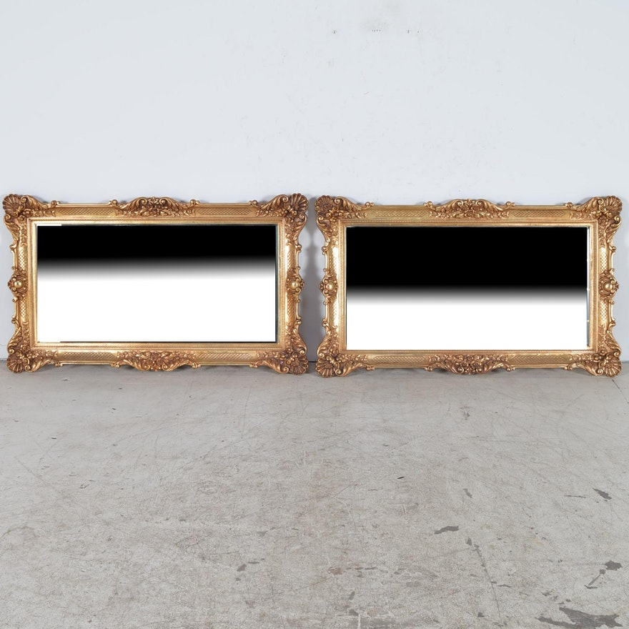 4a6f137e7e3 Large Wall Mirrors with Decorative Gold Tone Frames   EBTH