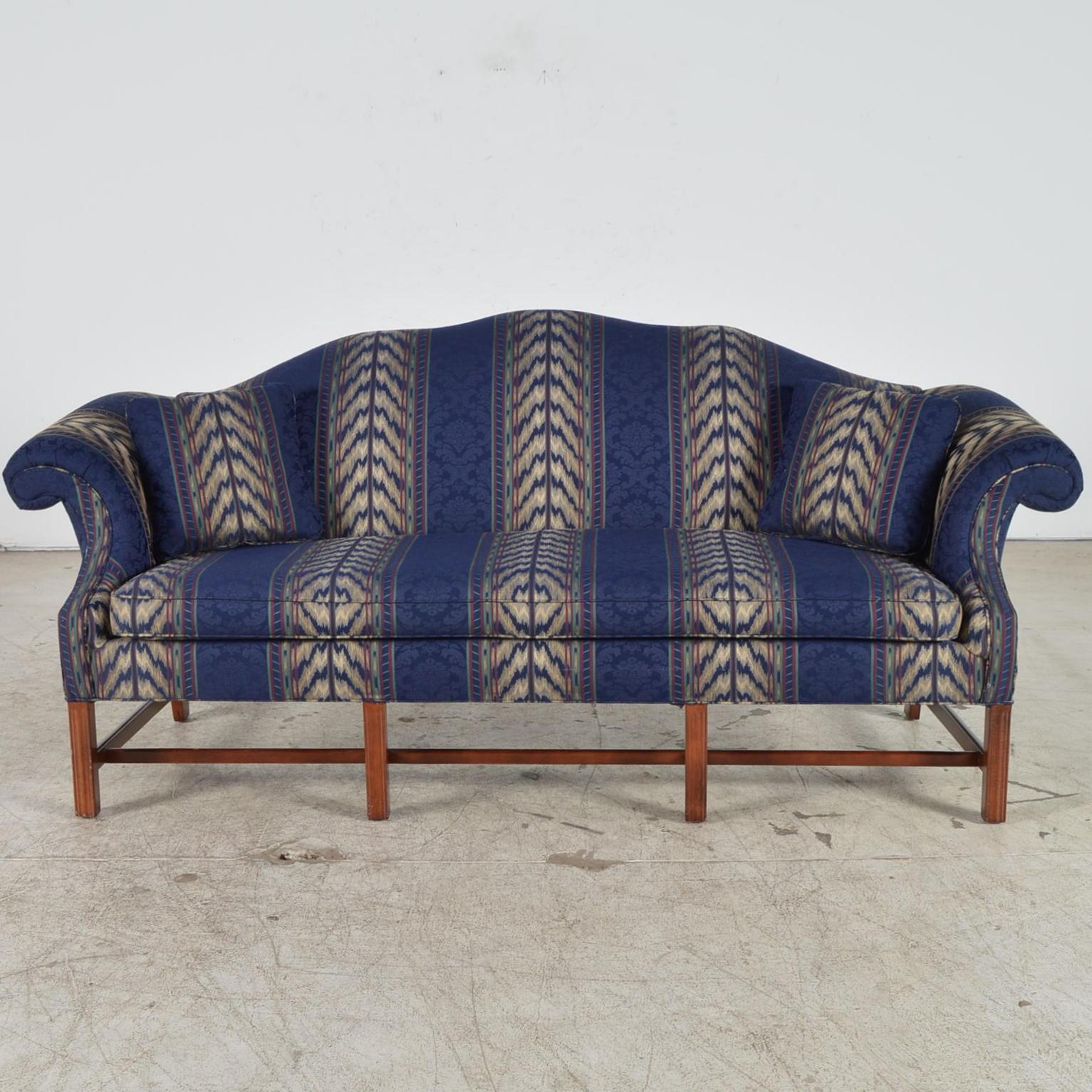 Elegant Cochrane Furniture Chippendale Style Camelback Sofa EBTH