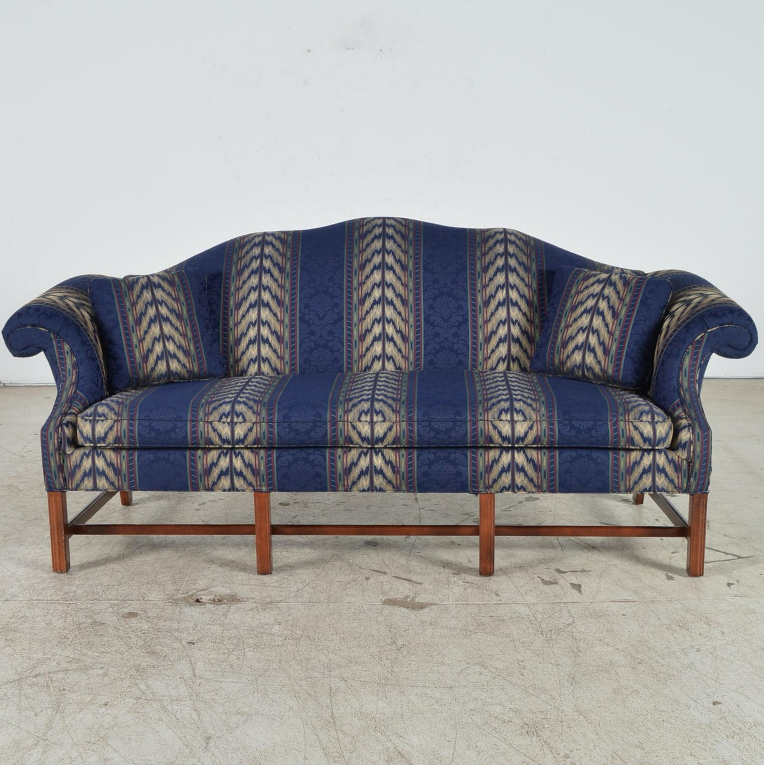 Cochrane Furniture Chippendale Style Camelback Sofa ...
