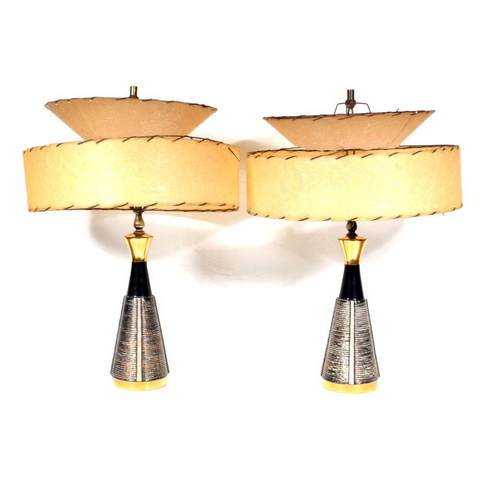 Pair of Mid Century Modern Atomic Table Lamps