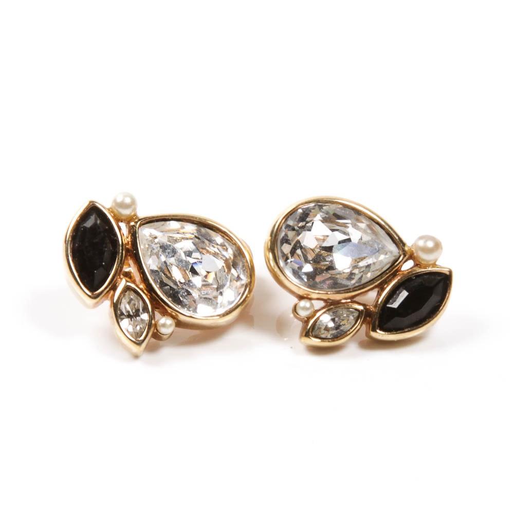 Pair of Swarovski Clip On Earrings