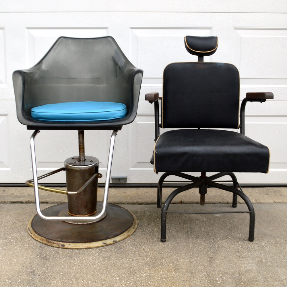 Pair of Vintage Salon Chairs