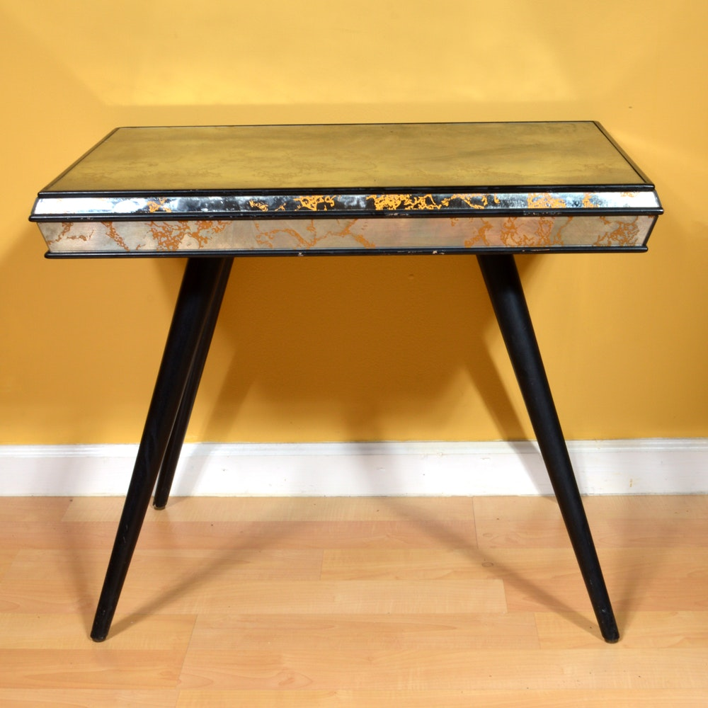 Mid Century Modern Style Mirrored Side Table