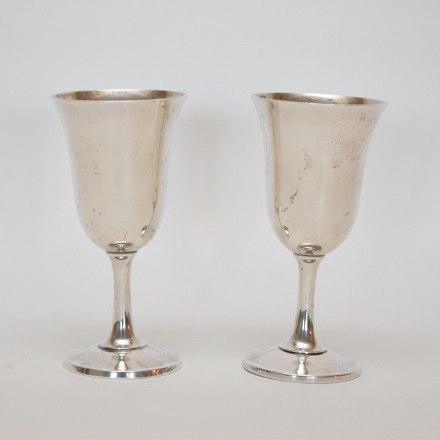 Pair of Wallace Sterling Silver Goblets