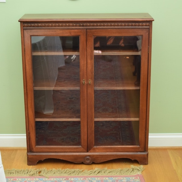 Cherry Glass Front Cabinet