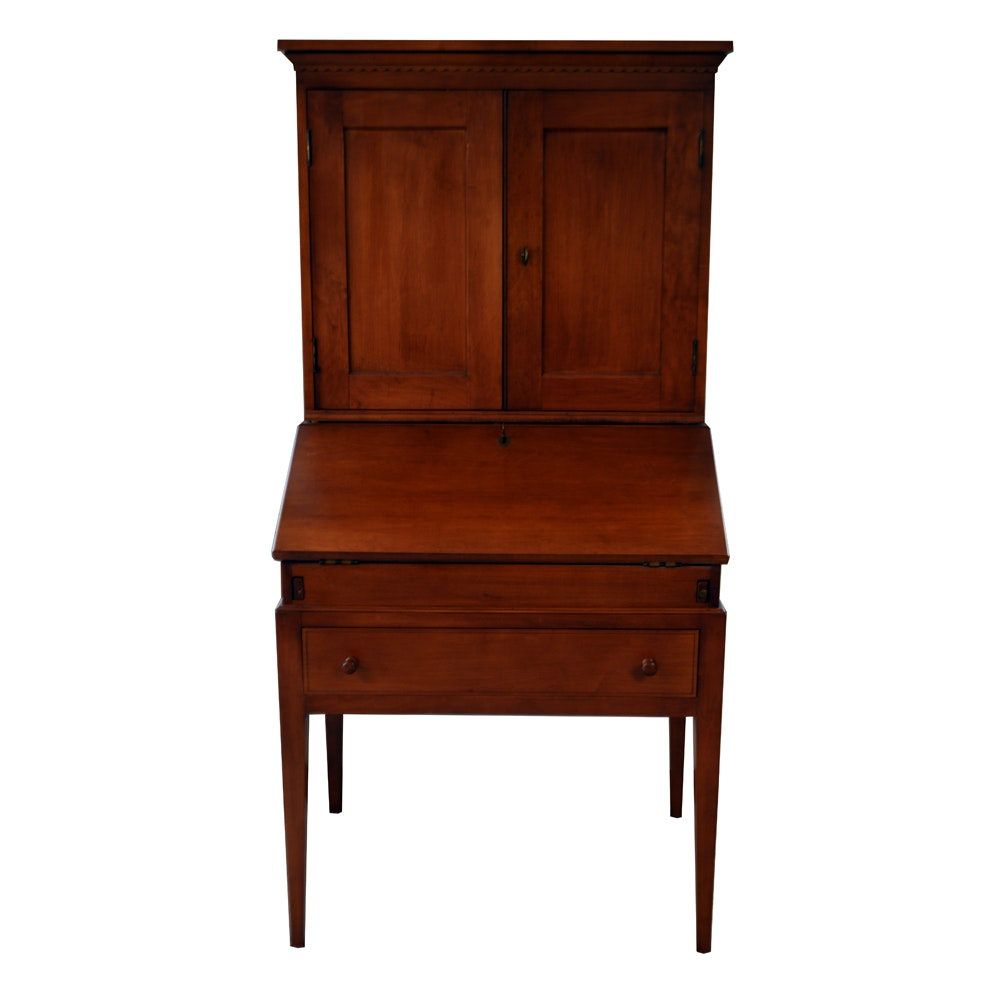 Early American Secretary Desk Crafted by George B. Bent