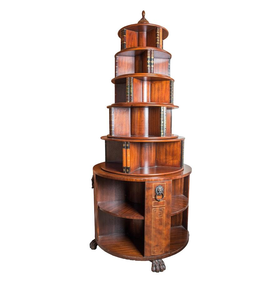 Hemingway Style Round Spinning Bookcase ... - Hemingway Style Round Spinning Bookcase : EBTH