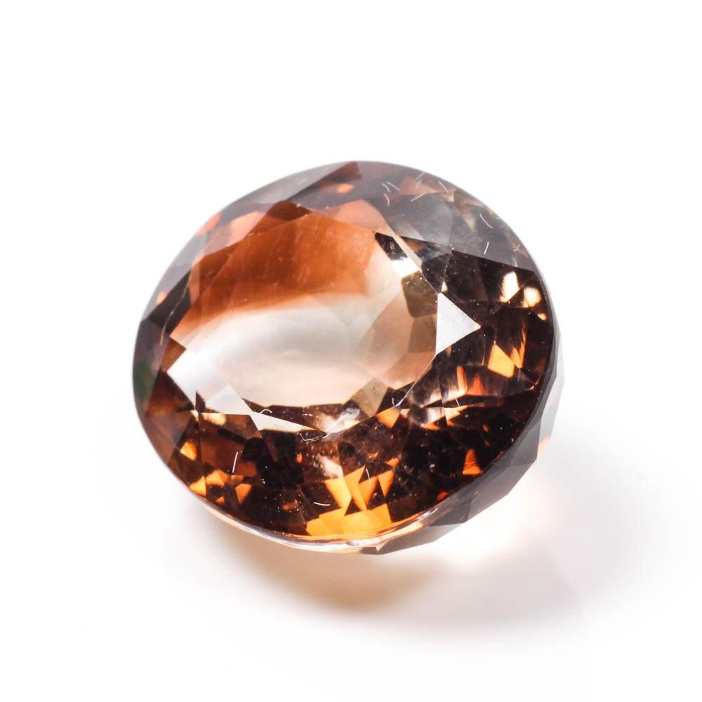 Amber Colored Gemstone