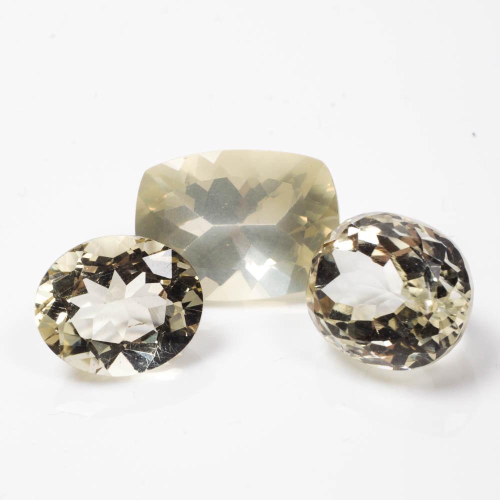 Pale Yellow Gemstones