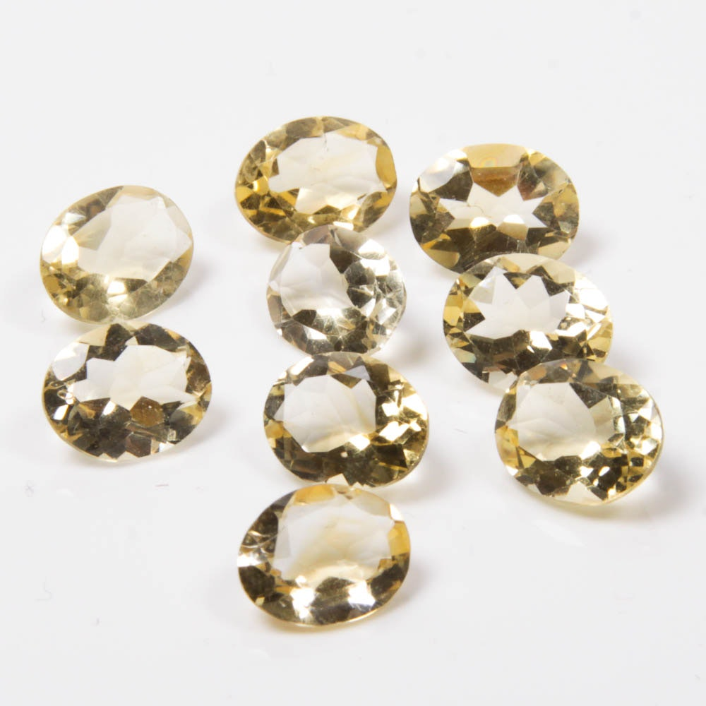 Light Yellow Citrine Gemstones