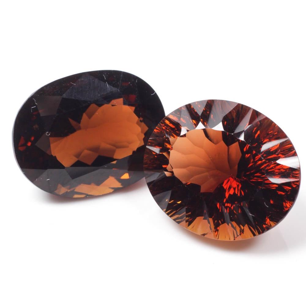 Pair of Topaz Gemstones