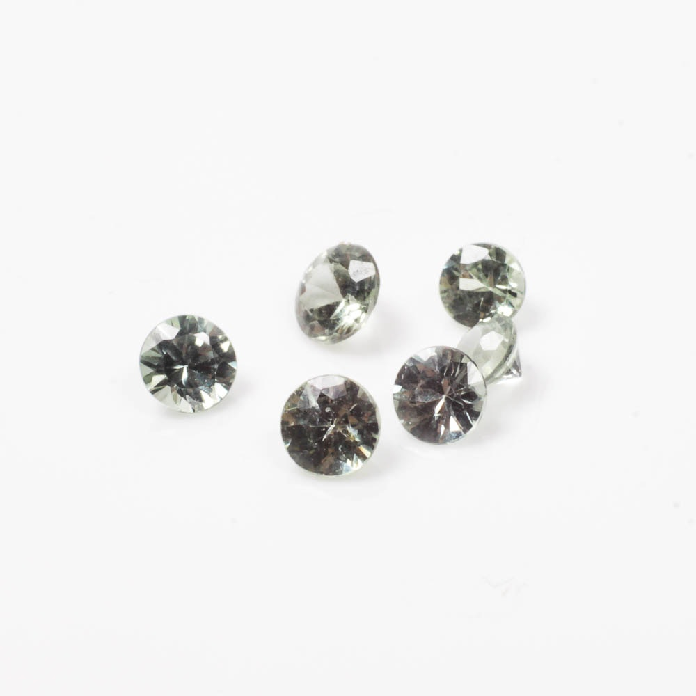 Collection of Pale Green Topaz Gemstones