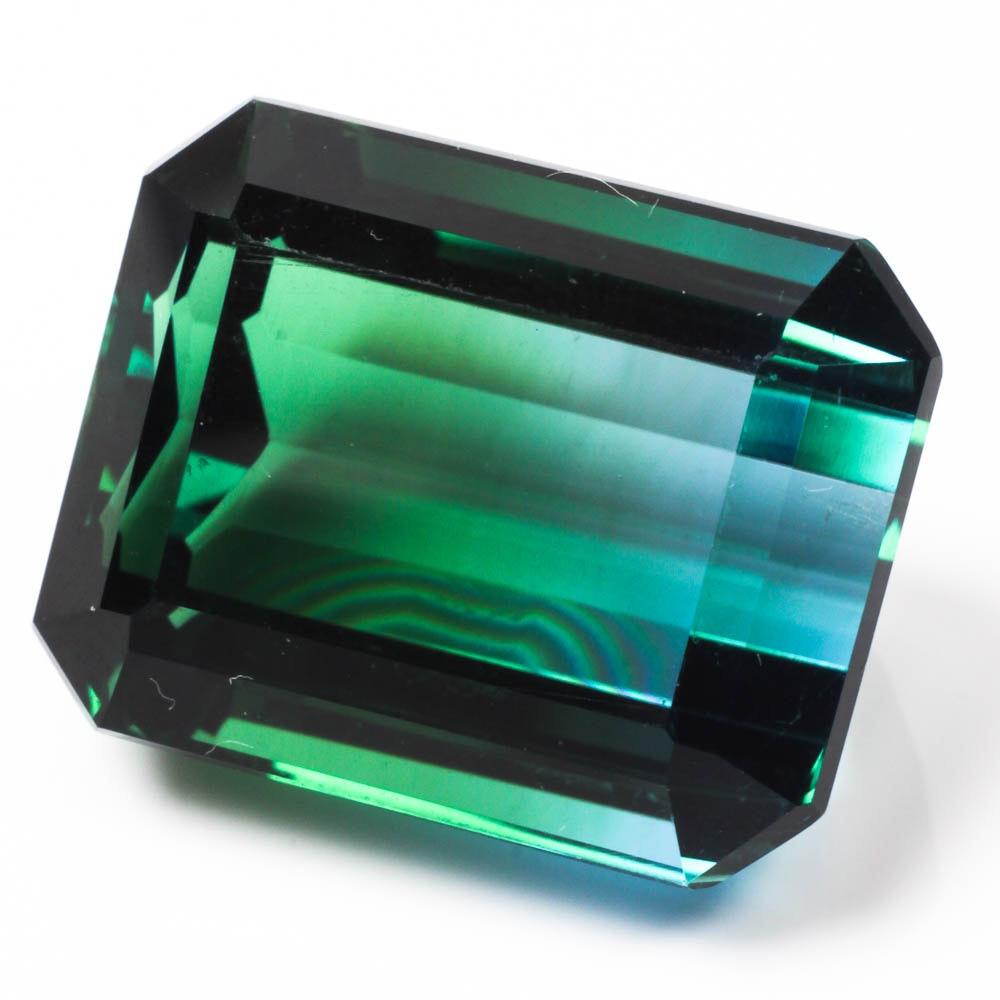 Blue-Green Ametrine Gemstone