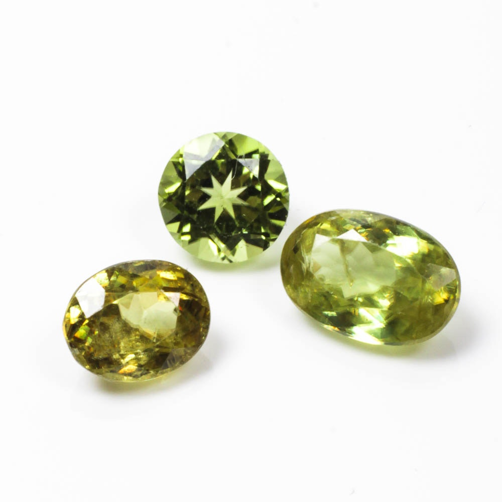Group of Green Gemstones