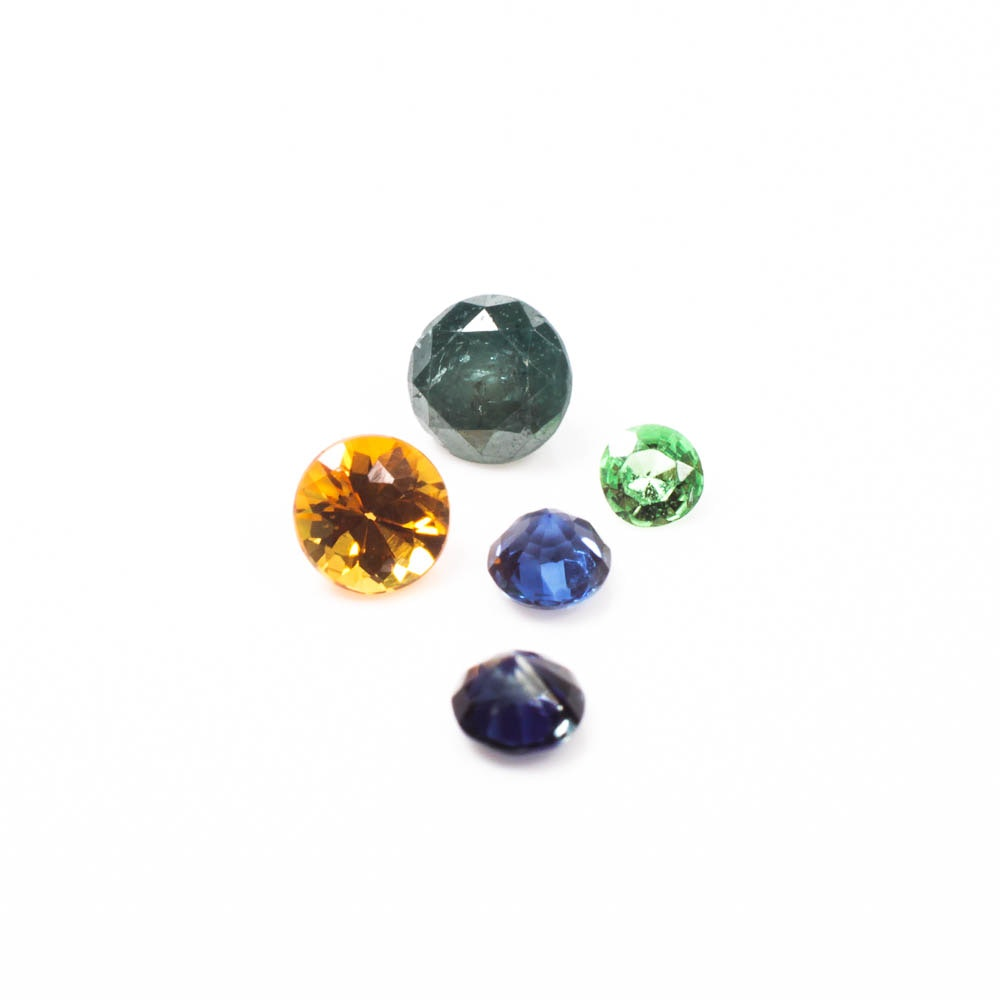 Group of Small Multi-Color Gemstones