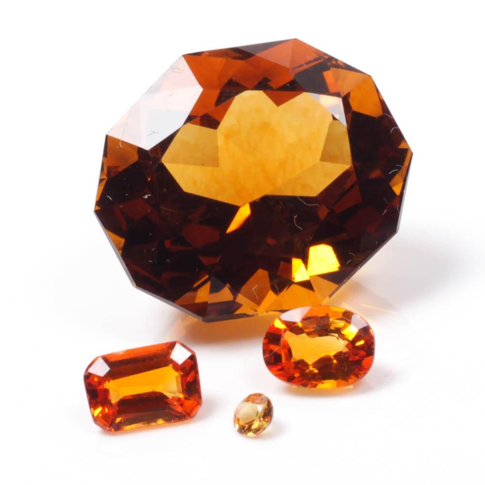 Orange Sapphire Gemstones