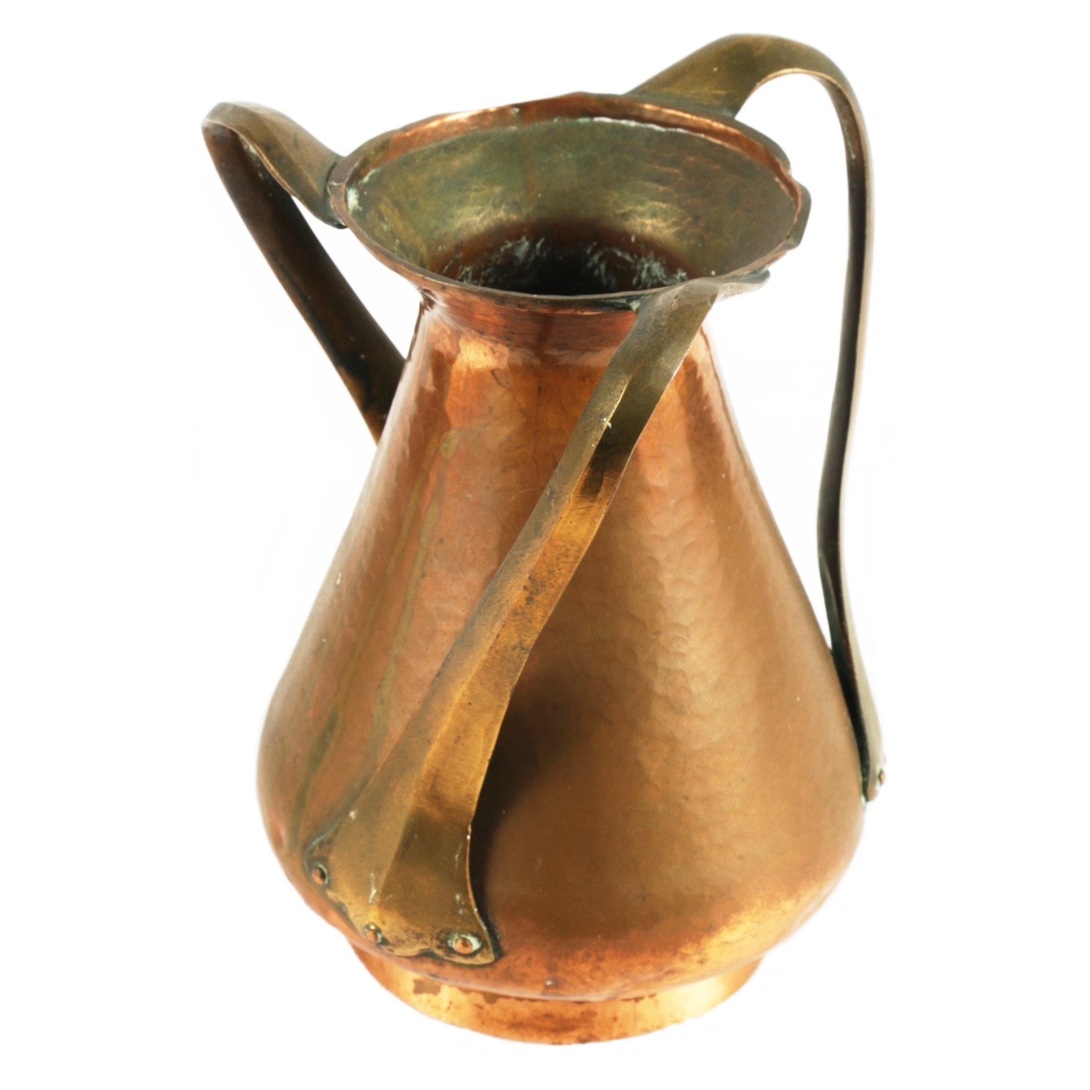 Arts and Crafts Hammered Copper Vase