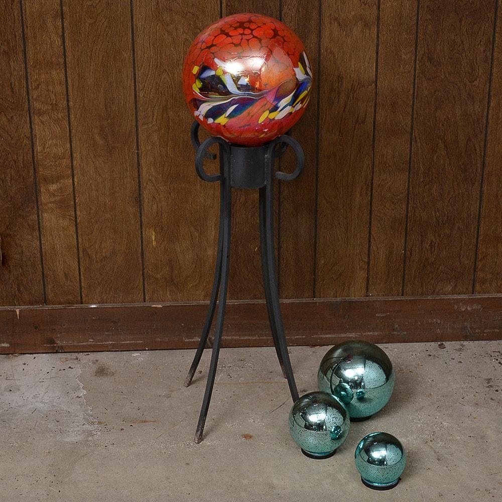Four Garden Gazing Balls