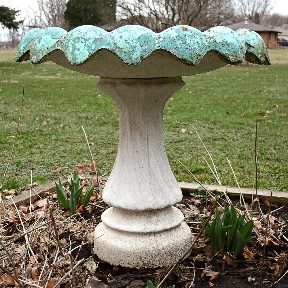 Concrete Garden Bird Bath