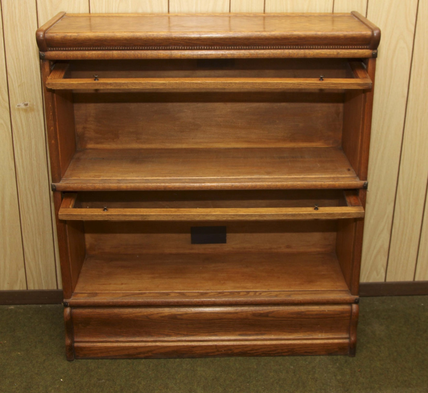 Vintage Oak Barrister Bookcase By Fred Macey Company Ebth