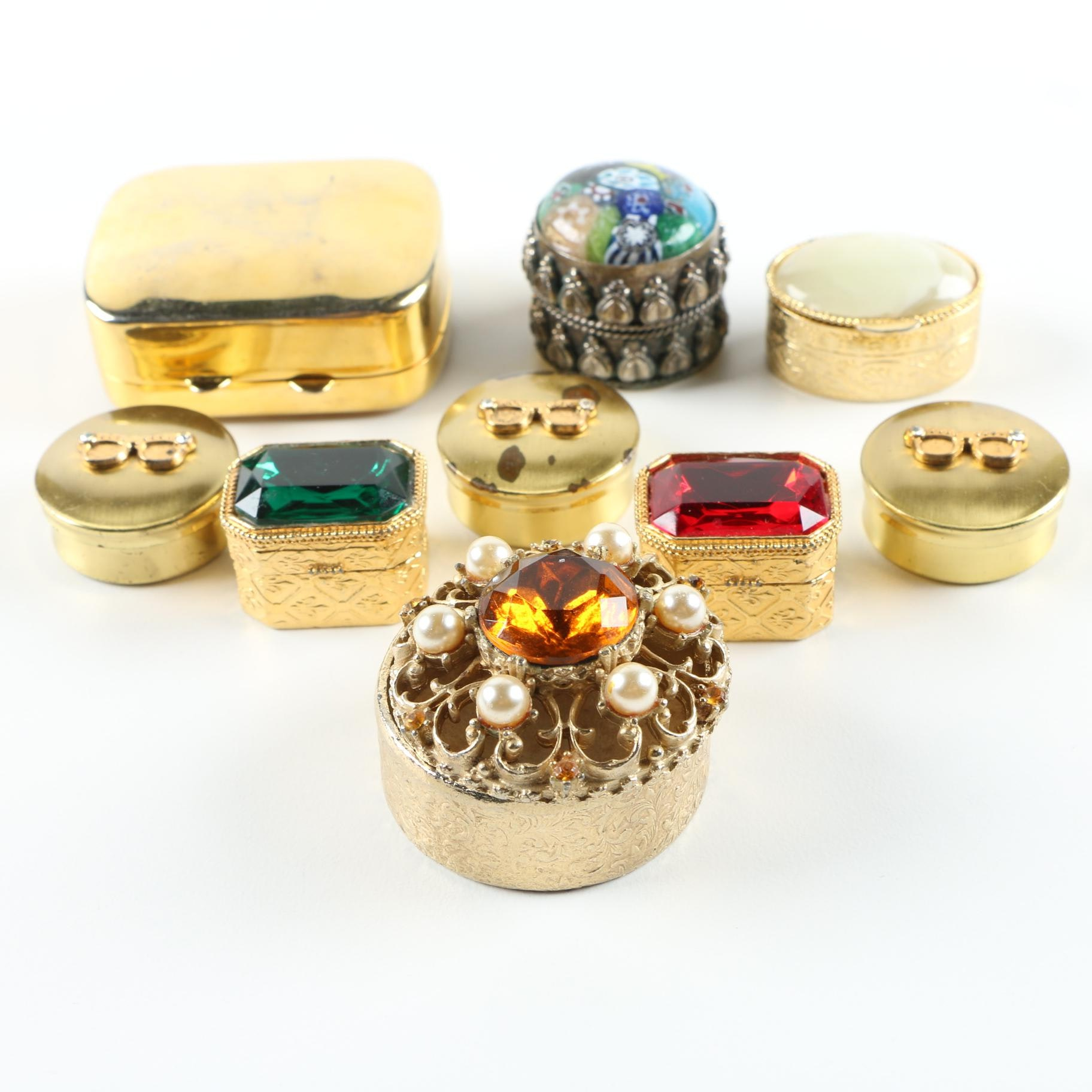 Assorted Pill and Trinket Boxes