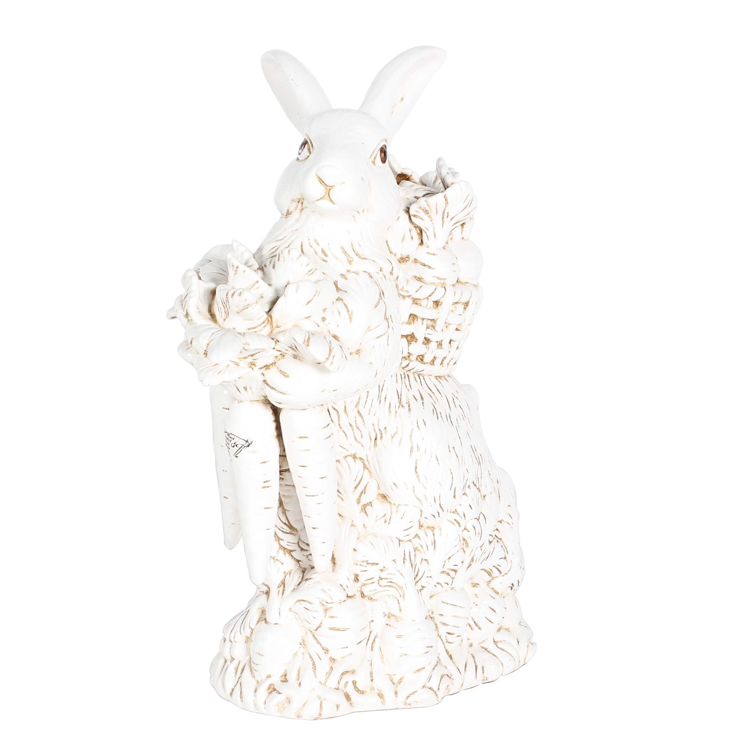 Hand-Pained Garden Rabbit Figurine