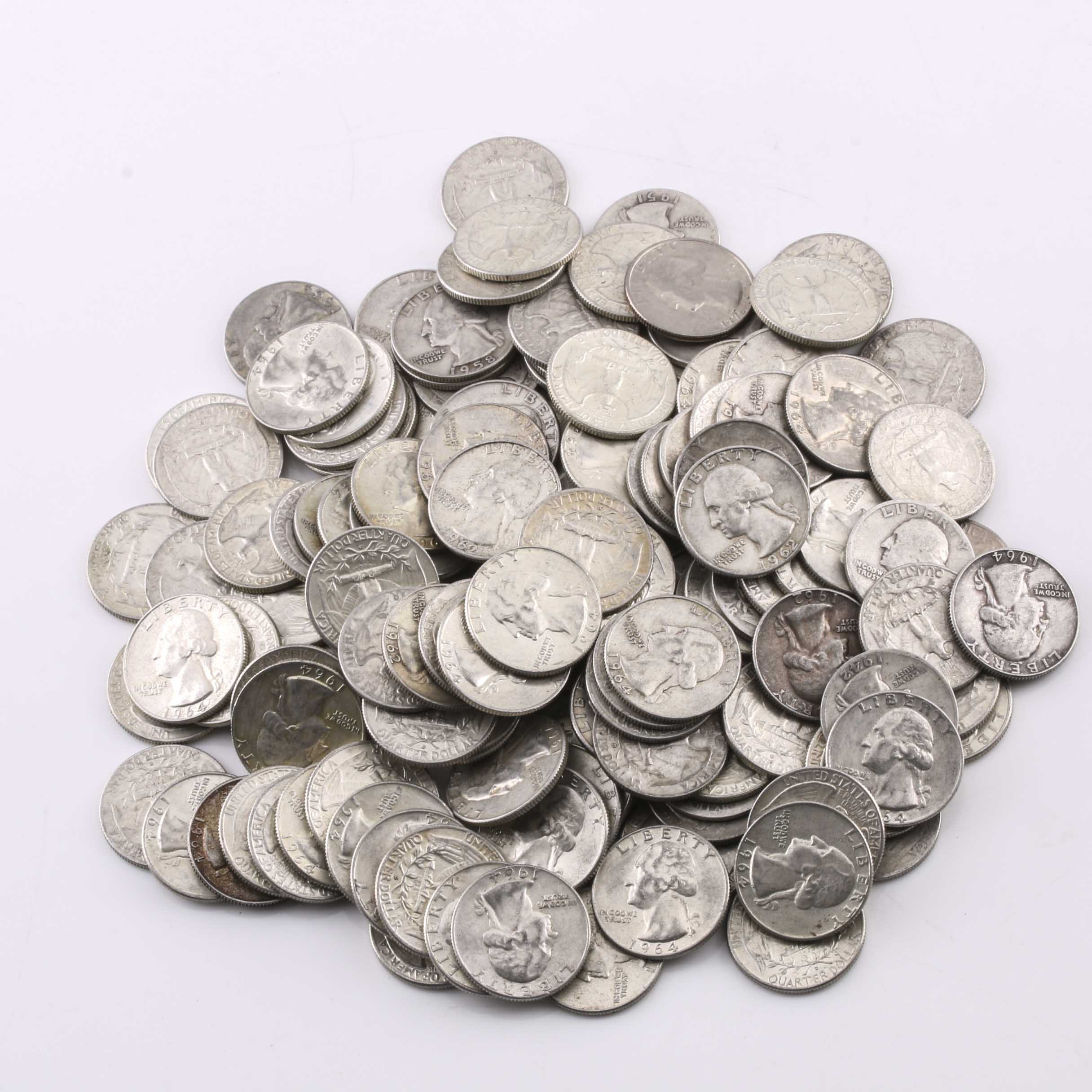 149 Washington Silver Quarters