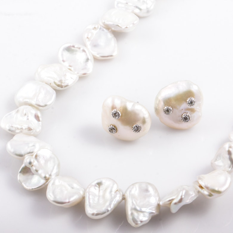 Baroque Luster Pearl Jewelry Including Judith Ripka