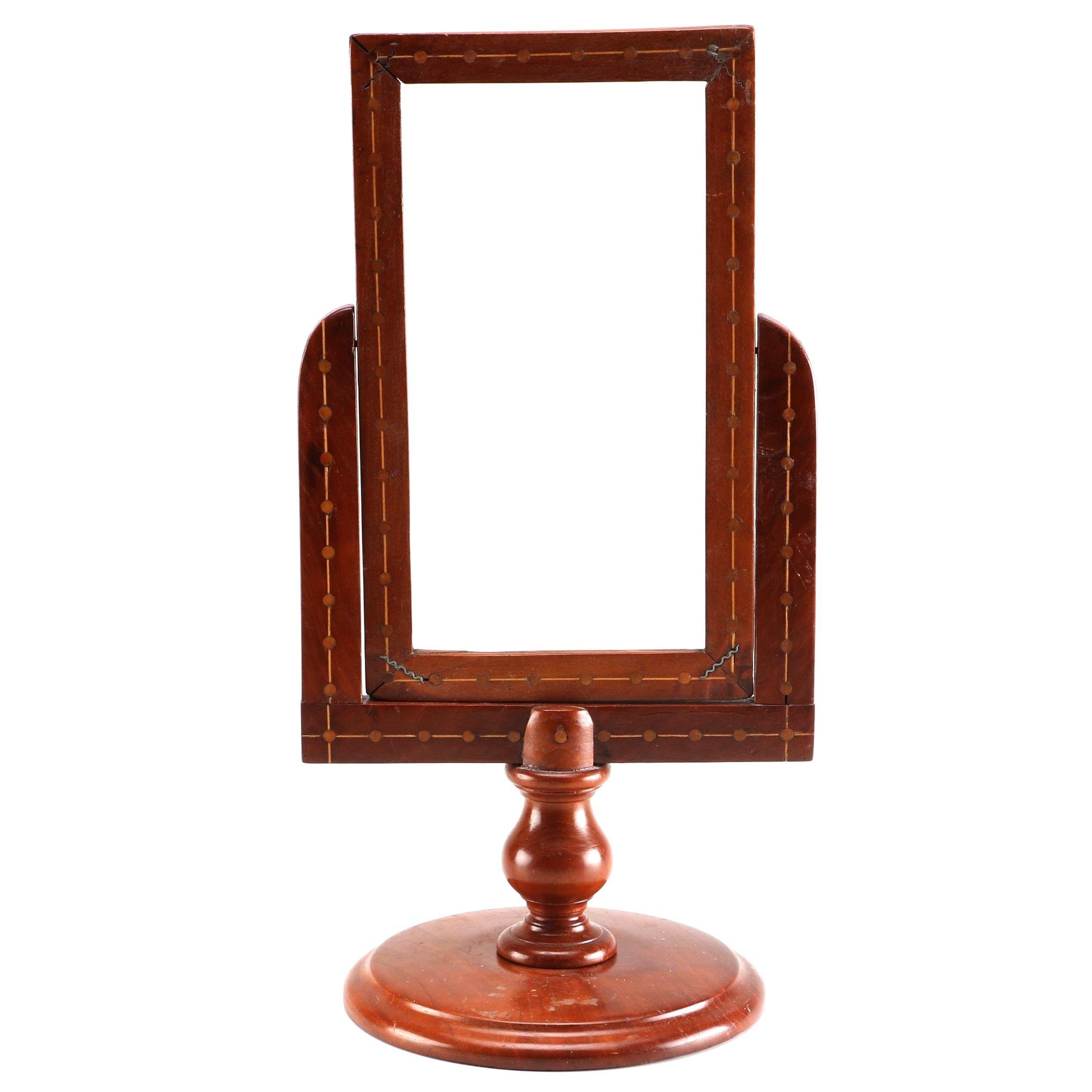 Inlaid Wooden Vanity Mirror Stand