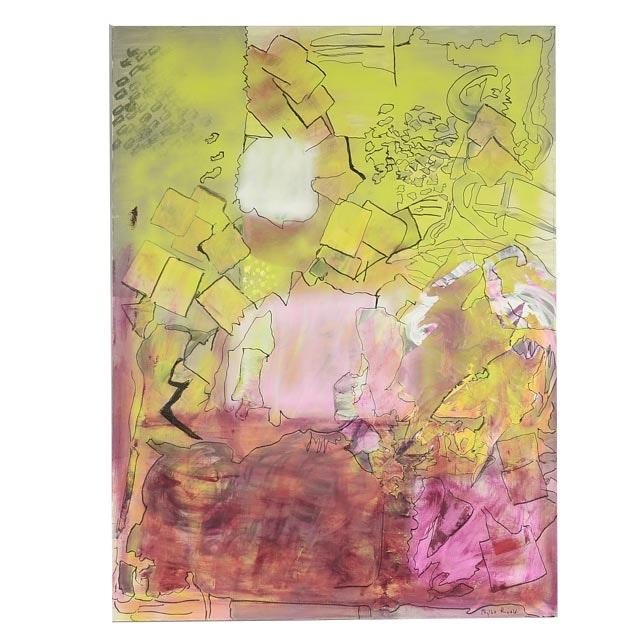 "Phyllis Rinaldi Original Mixed Media Painting on Canvas ""No Name"""