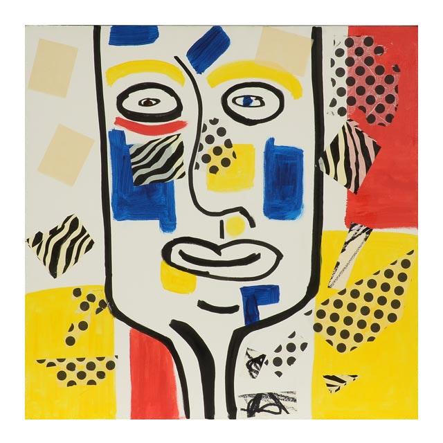 "Phyllis Rinaldi Original Acrylic Painting on Canvas ""Modern Man"""