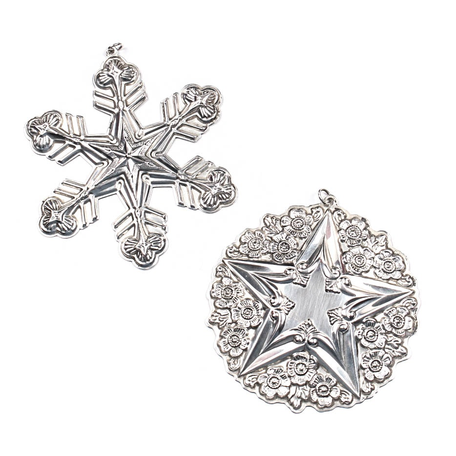 Sterling Silver Gorham Christmas Ornaments