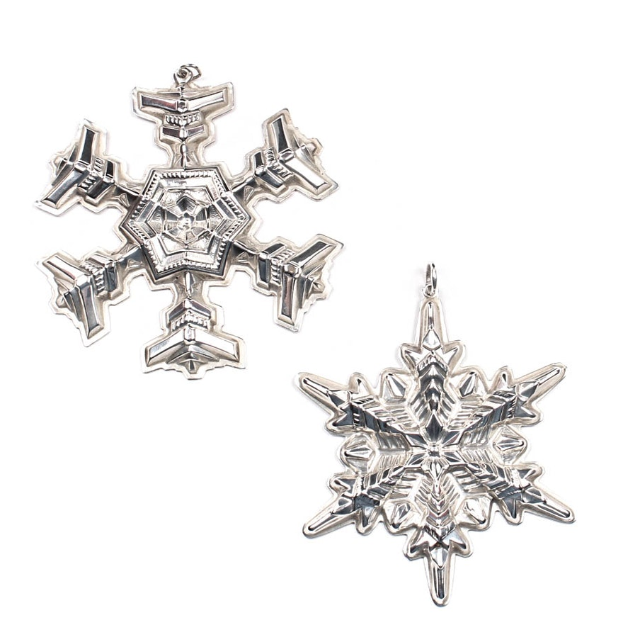 Gorham Sterling Silver Christmas Ornaments