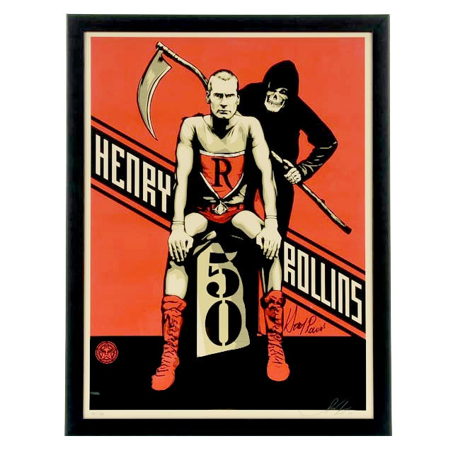 """Shepard Fairey Limited Edition Serigraph """"Rollins 50"""""""