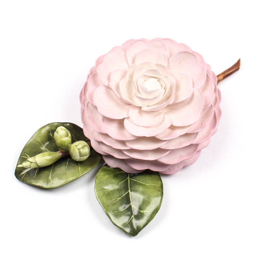 Capodimonte Style Porcelain Flower