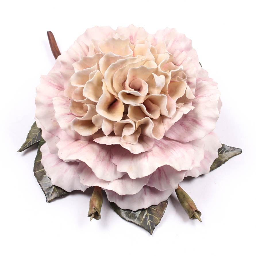 """Boehm-Style Porcelain Flower After """"Camellia-Pat Nixon"""""""