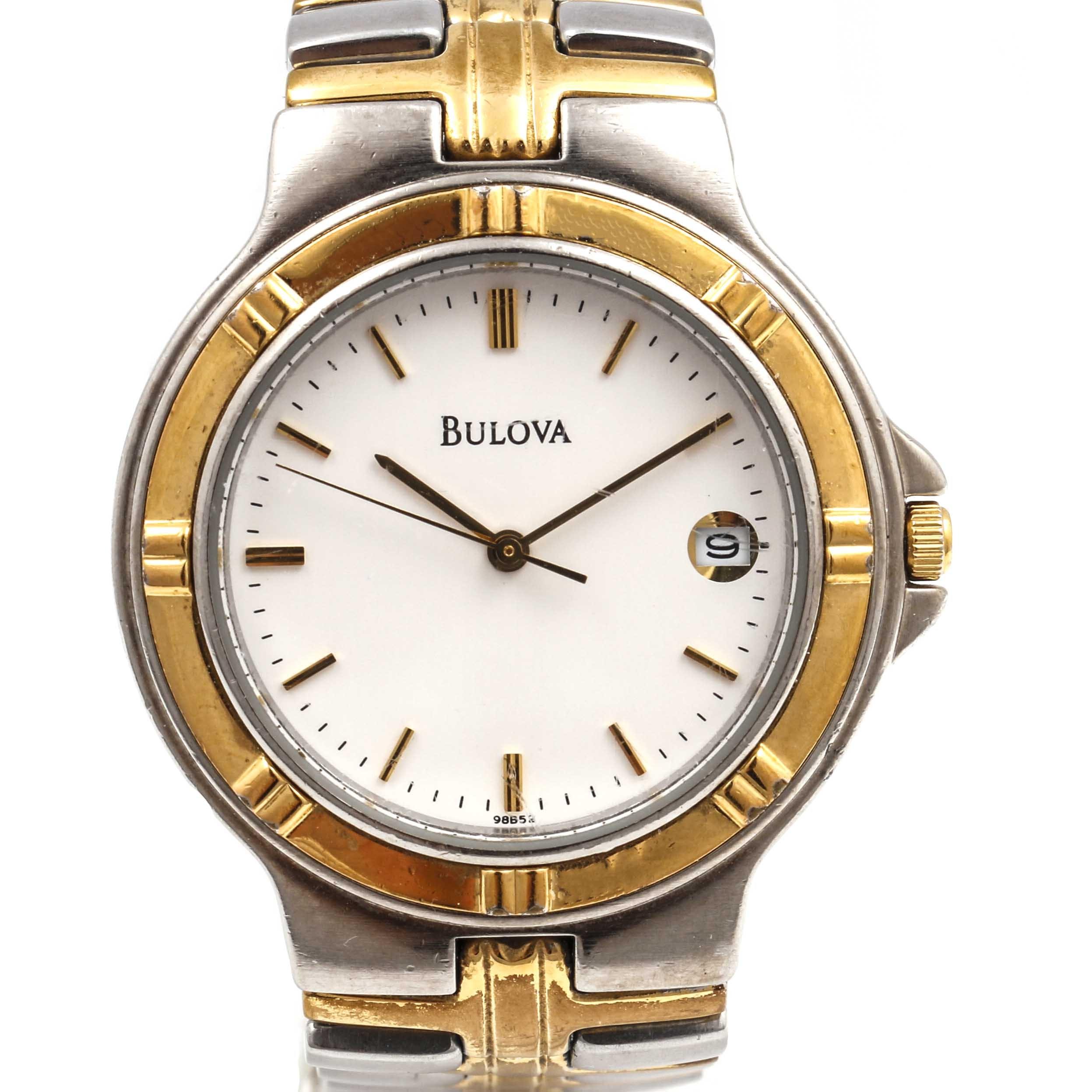 Men's Bulova Two-Toned Wristwatch