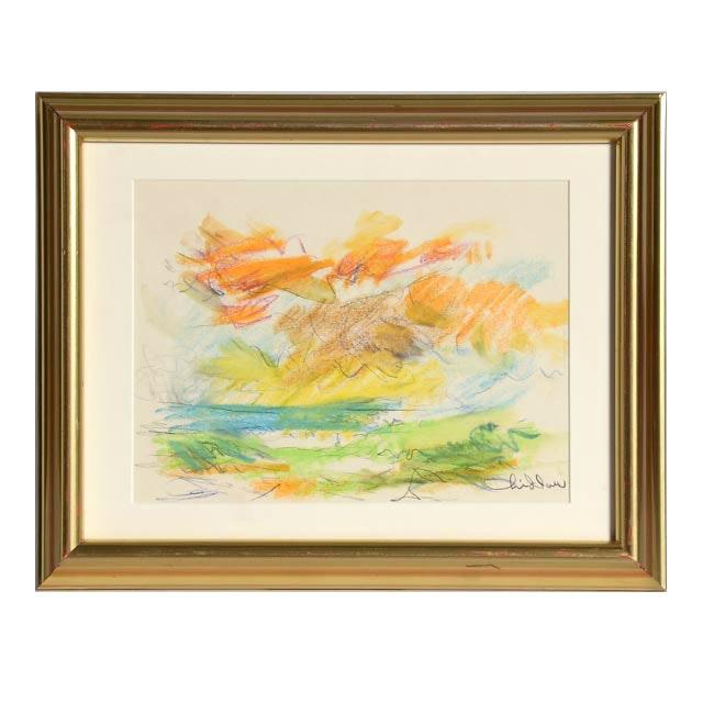 Paul Chidlaw Original Pastel Drawing