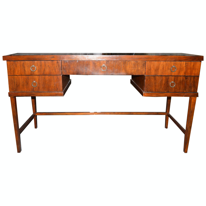 Modern Walnut Veneer Desk