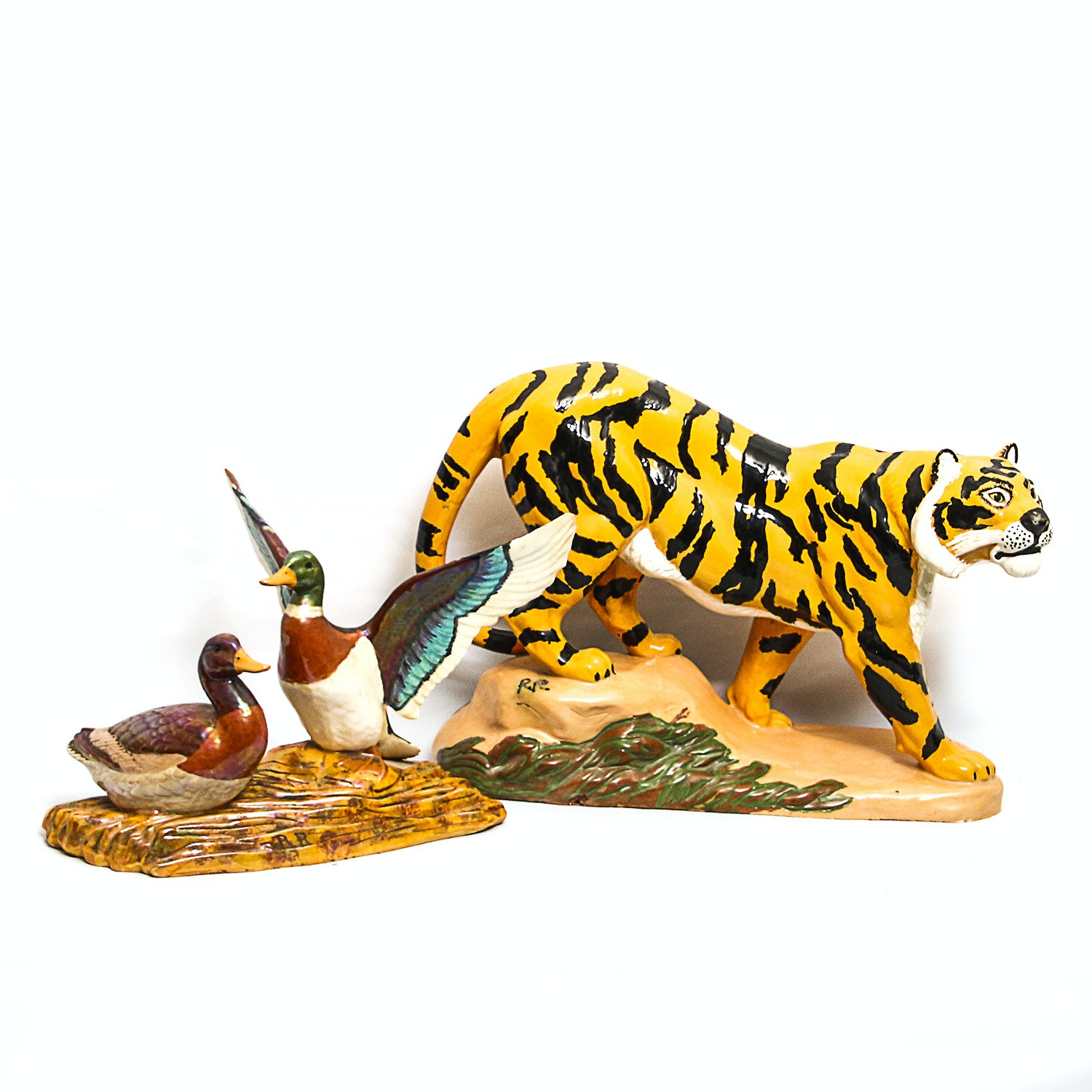 Pair of Hand-Painted Figurines