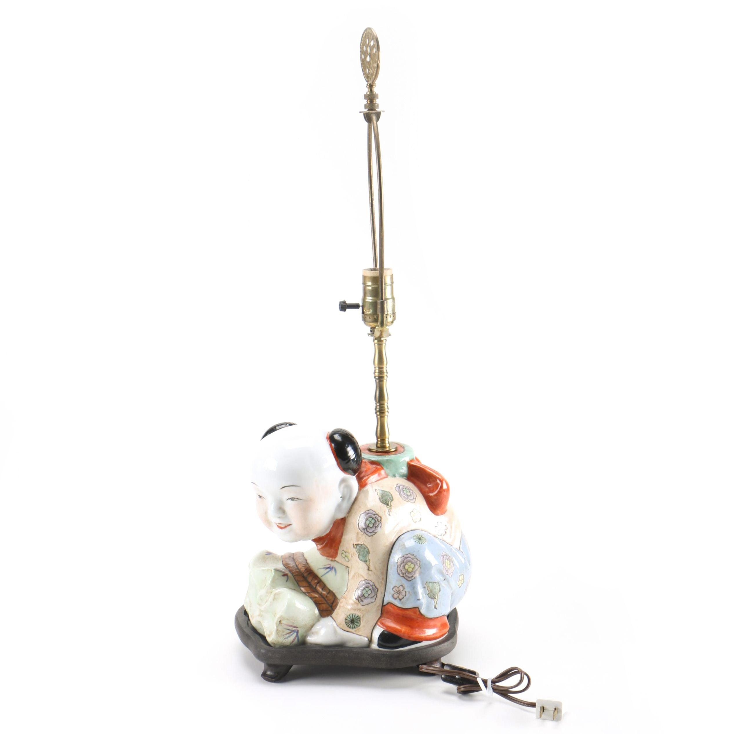 Chinese Crouching Figure Accent Lamp