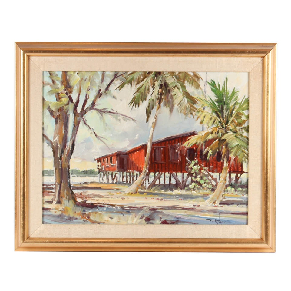 """Richard Wagner Oil Painting """"Old Shallowford Store"""""""