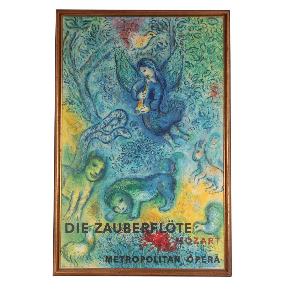 Chagall Die Zauberflote Metropolitan Opera Poster