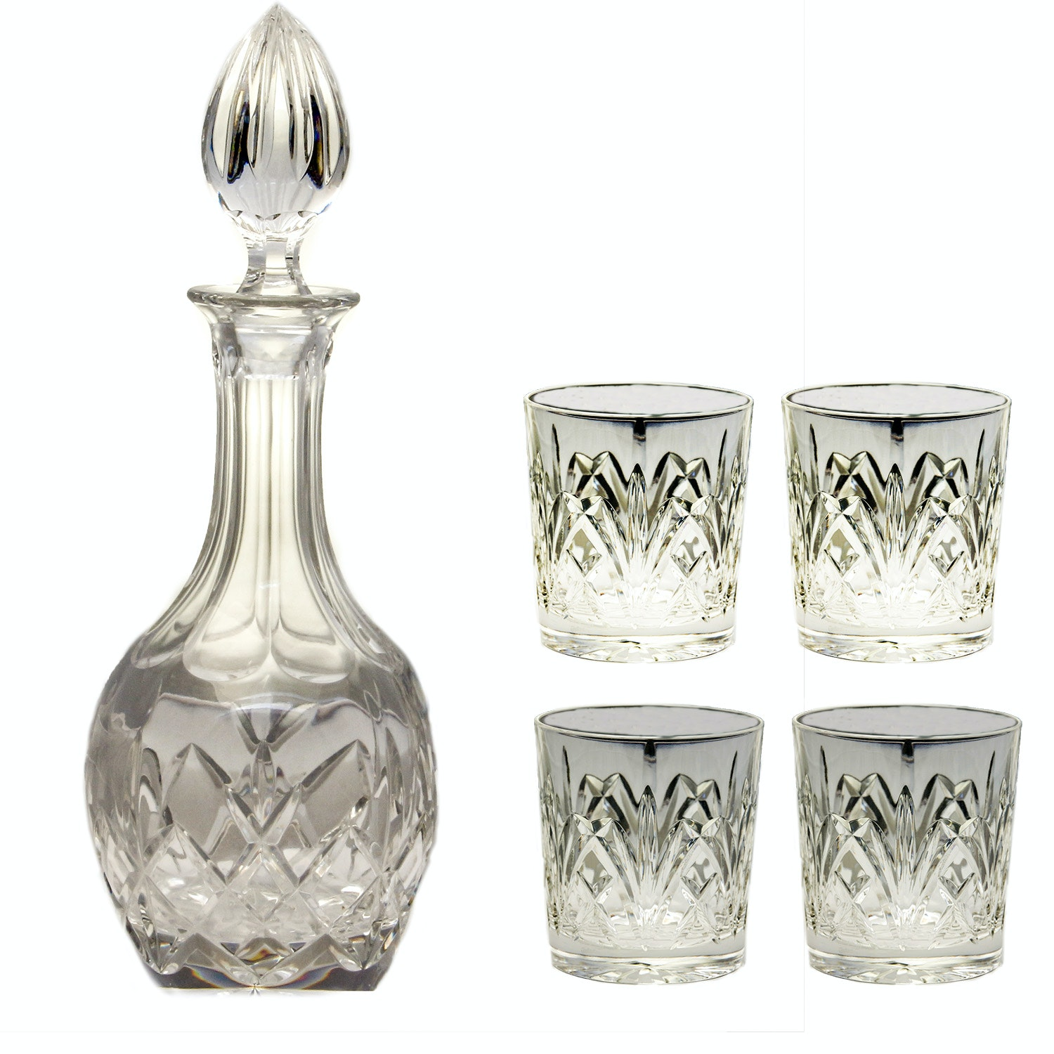 A Waterford Decanter with Glasses